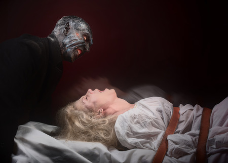 madhouse: Nightmare. Insane woman and her inner monster