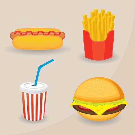 weenie: Fast food set Illustration