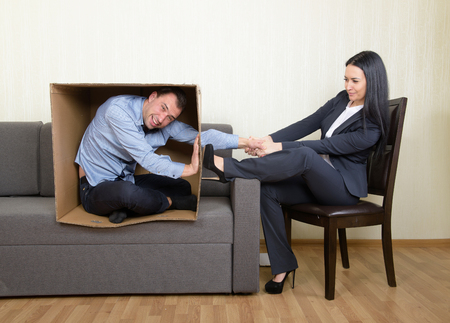 oppose: Psychotherapy - humorous concept photo Stock Photo