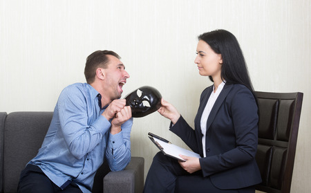 clinical psychology: Psychotherapy - humorous concept photo Stock Photo