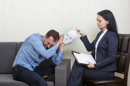 guise: Psychotherapy - humorous concept photo Stock Photo