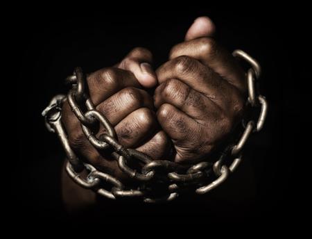 Hands in chains Banco de Imagens - 79159667