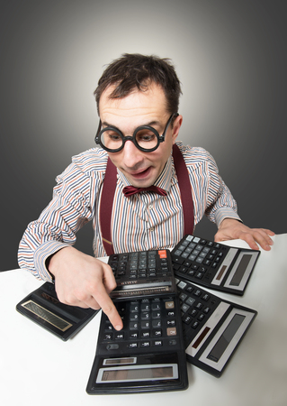 Grappige accountant