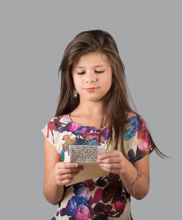 Girl reading the letter