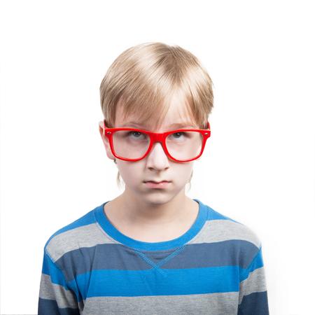 Concept of screaming boy Stock Photo