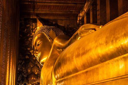 Golden Giant Buddha, Wat-Pho, Bangkok, Thailand Editorial