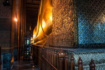 Giant Golden Buddha, Wat-Pho, Bangkok, Thailand