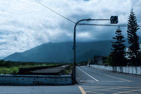 Crossroad in Hualien City, Taiwan