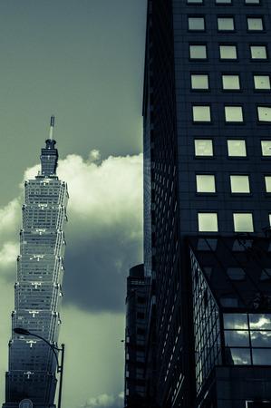 Taipei 101 in background, Taipei, Taiwan