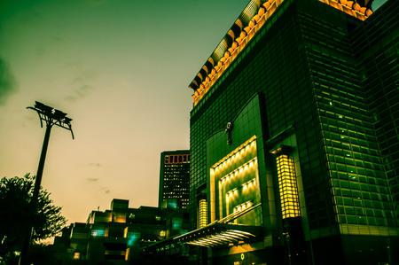 Taipei by night, Daan District, Taipei, Taiwan Editorial