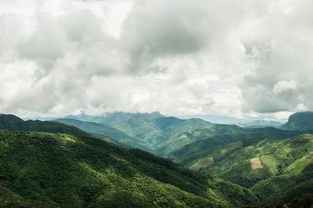 Landscape mountains Laos Stock Photo