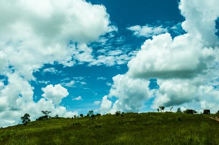 Landscape plains Phonsavan Laos