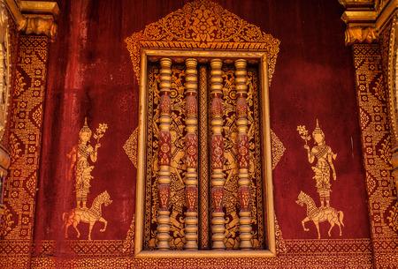Window of a temple Luang Prabang Laos Stock Photo