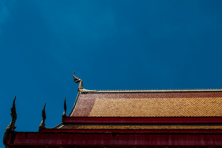 Roof of a temple in Luang Prabang Laos