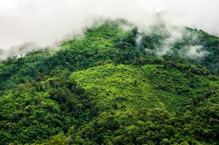 Landscape Mountains along the Mekong Laos