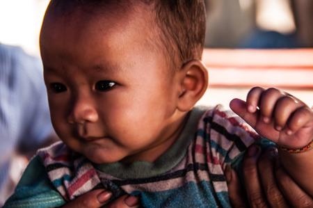 Lao child in Pakse Pakse Laos