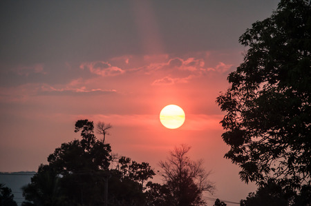 Sunset in Pakse Pakse Laos