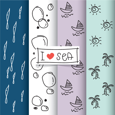 I love sea patterns collection