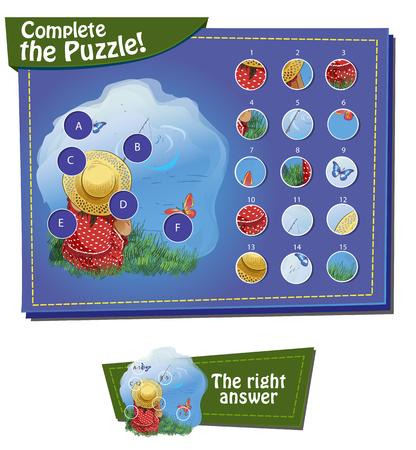 Visueel spel voor kinderen. Opdracht: maak de puzzel