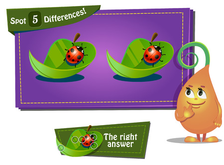 differences: Visual Game for children. Task: find differences 3 Illustration