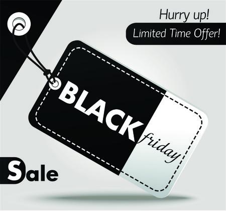 tag label: Black Friday sales tag. Label illustration