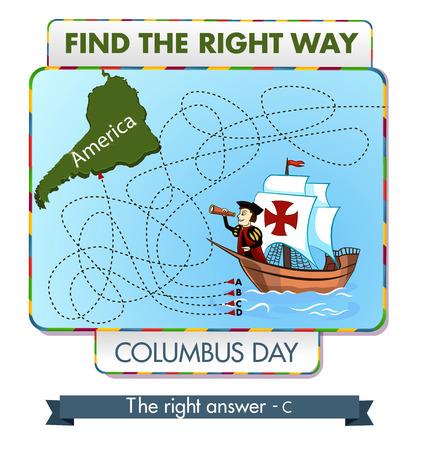 Columbus dag. Zoek de juiste weg