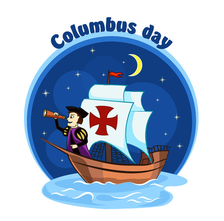 christopher columbus: Columbus on the ship for design