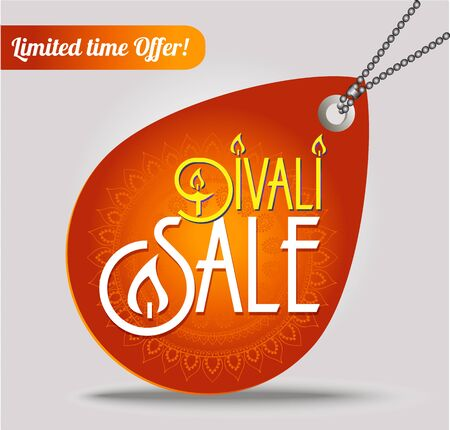 dipawali: Happy Diwali discount tags, stickers or labels in circle