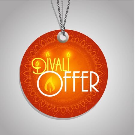 tag: Happy Diwali discount tags, stickers or labels in circle