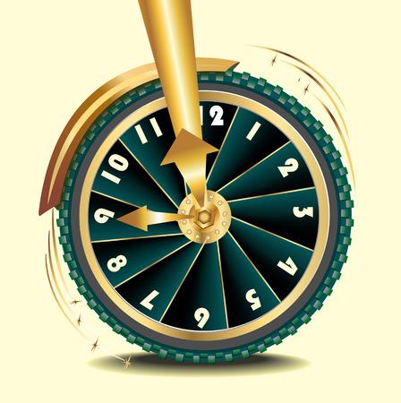 transience: wheel as symbol of transience of time