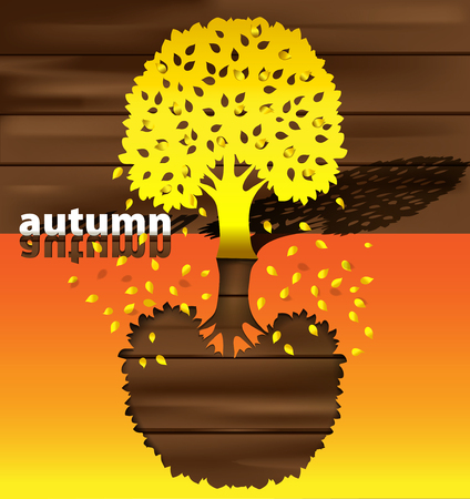 manner: abstract background in the manner of tree by autumn