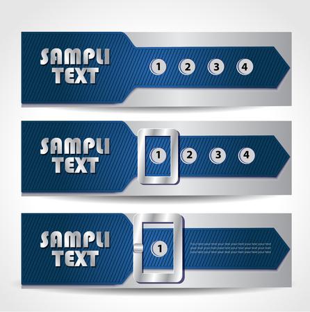 strap: banner as a strap Illustration