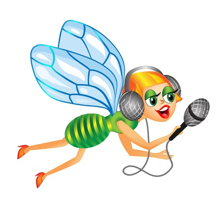 housefly: housefly journalist which flies to take interview