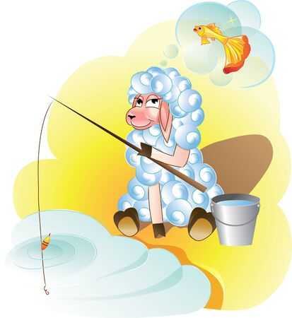 desires: funny sheep fishing dreams of gold fish