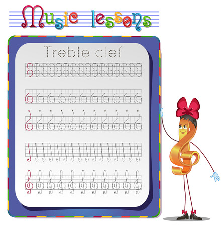 lessons: Music lessons, exercises for children.