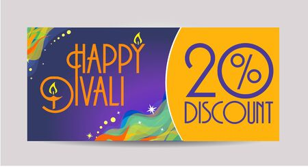 divinity: Happy Diwali discount tags, stickers or labels discount card
