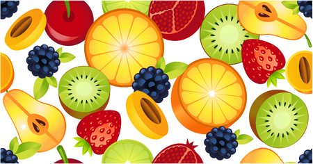 sliced fruit seamless pattern background