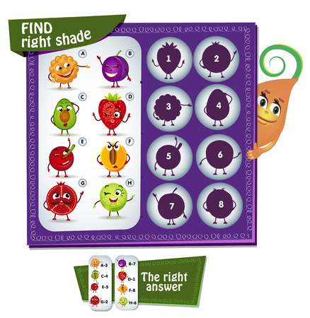 find: Visual Game for children. Task:  find right shade