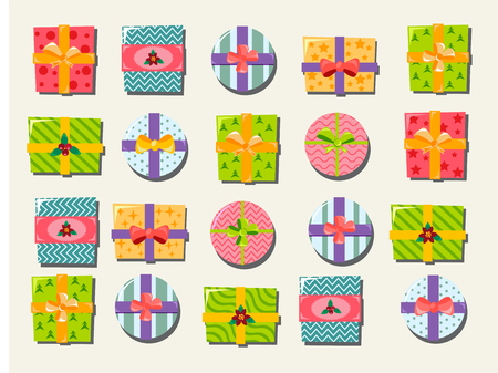 giftware: icon top view of Gift boxes