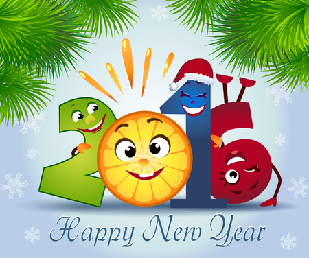 december holidays: funny symbol of the new year 2016