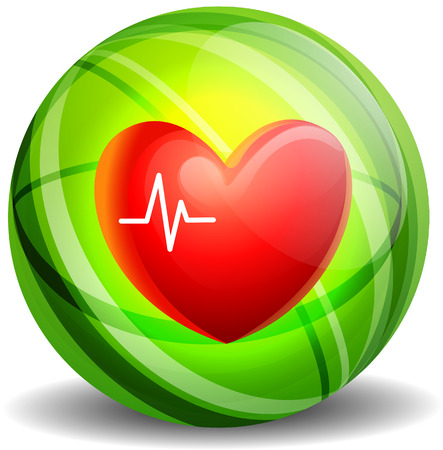 heartbeat line: Heartbeat icon concept. Form of heart and heartbeat . Modern style   vector illustration with ECG line.