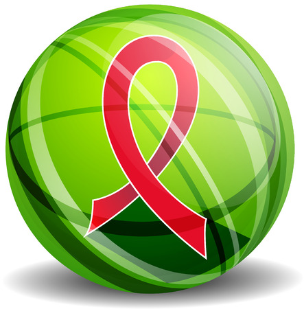 heart disease: Red ribbon - AIDS, HIV, heart disease, stroke awereness sign