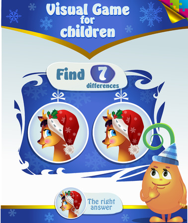 differences: Visual Game for children. Task: find 7 differences Illustration