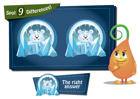 differences: Visual Game for children. Task: find 9 differences