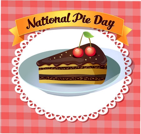 dollop: Greeting card National Pie Day Illustration