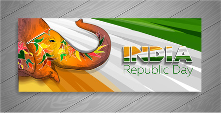 banner for Republic Day in India