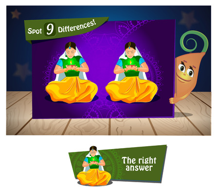 indium: Visual Game for children. Task: find 9 differences