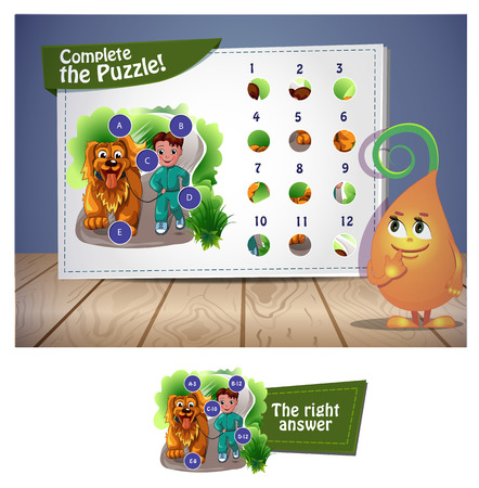 visual: Visual Game for children. Complete the puzzle