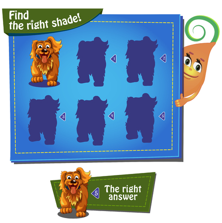 family fun: Visual Game for children. Task find the right shade