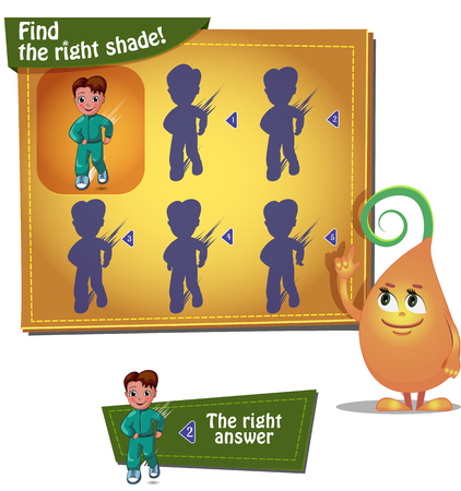 find: Visual Game for children. Task find the right shade